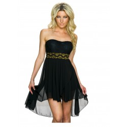 MADE IN ITALY-ROBE BANDEAU COCKTAIL CHIC