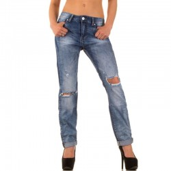 SIMPLY CHIC-JEANS DESTROYED KL-J-Q1459